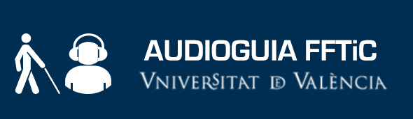 Logo de la audioguía de la facultat de Filologia, Traducció i Comunicació